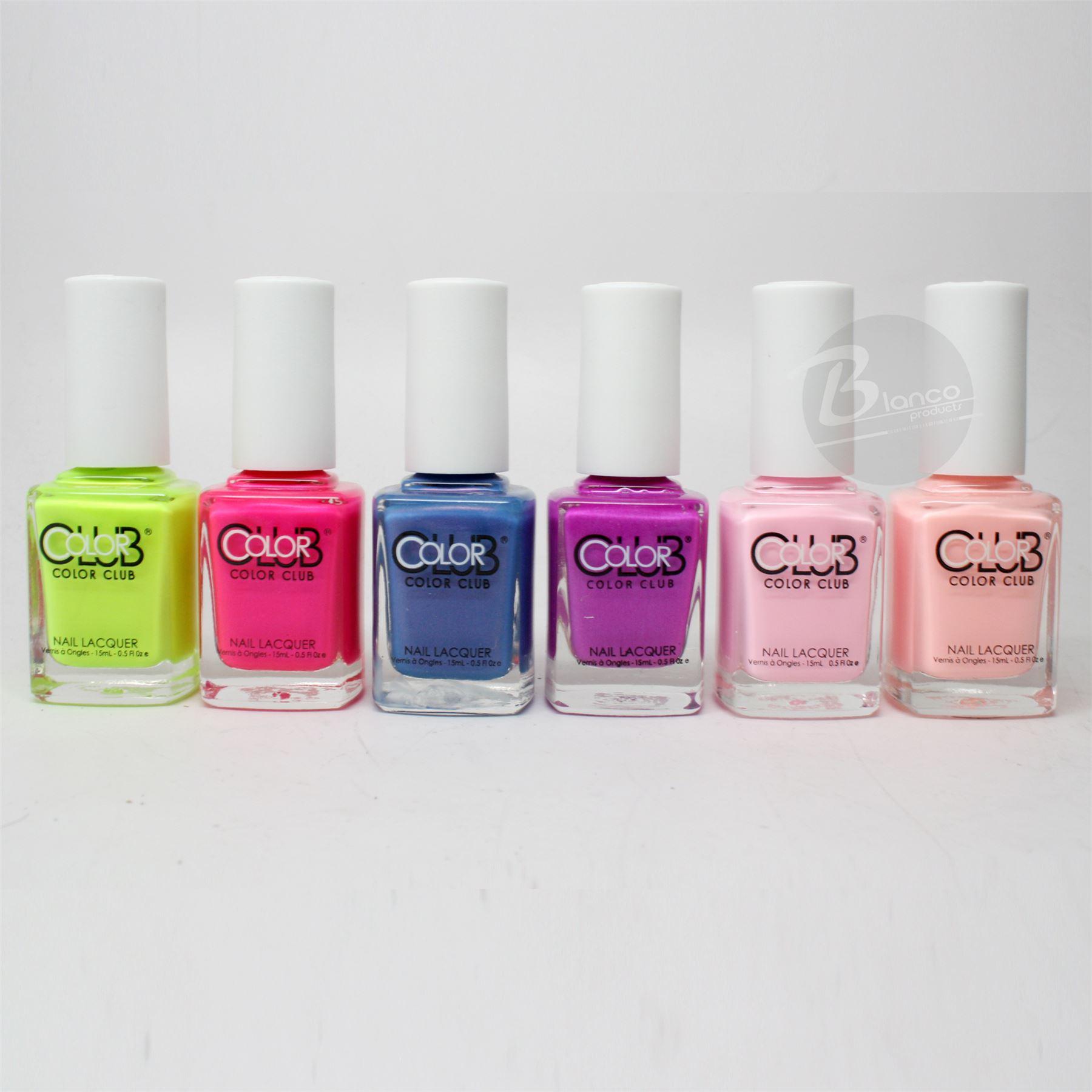 Color Club Nail Polish Poptastic Pastel Neon Collection