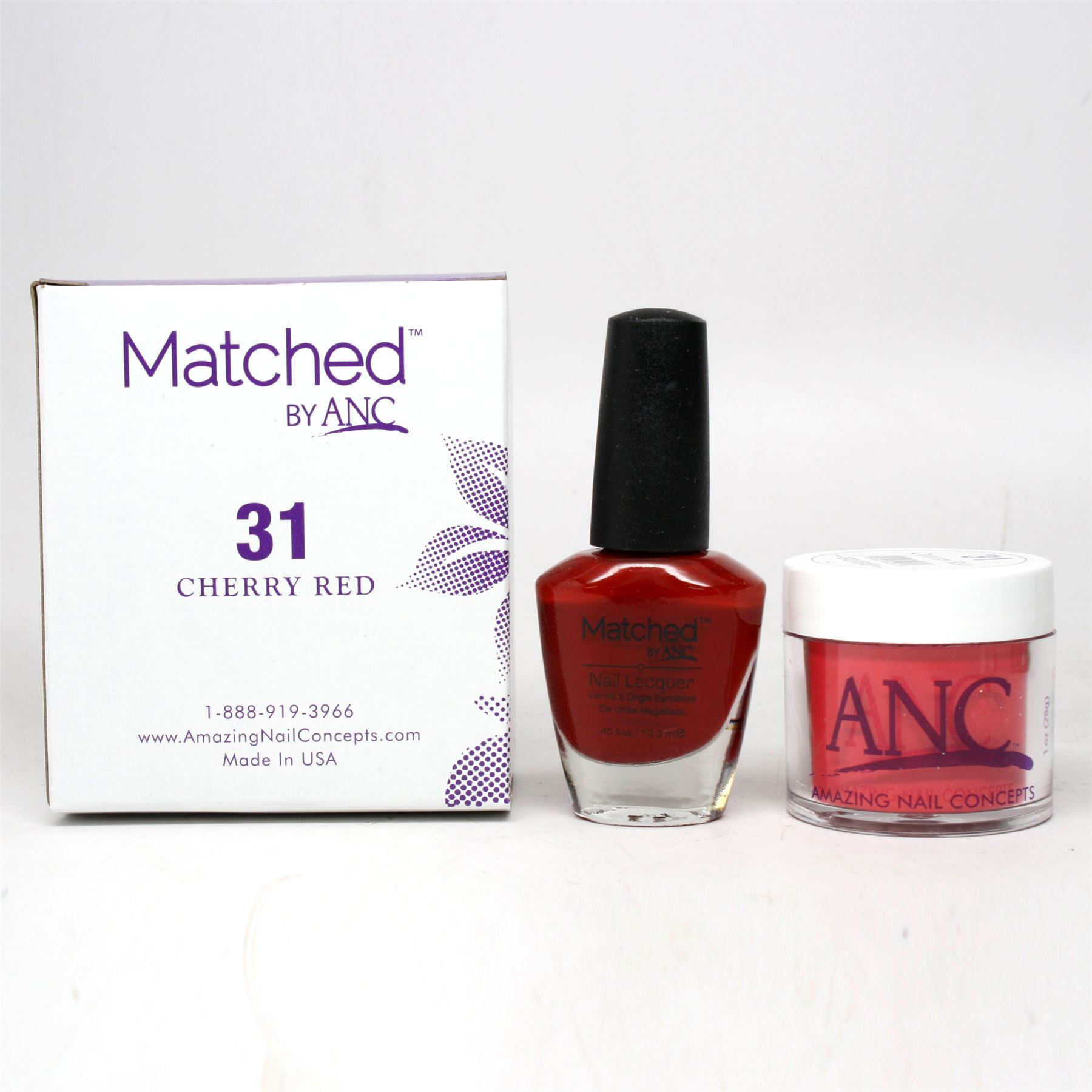 ANC Amazing Nail Concepts Matched Kit # 31 Cherry Red