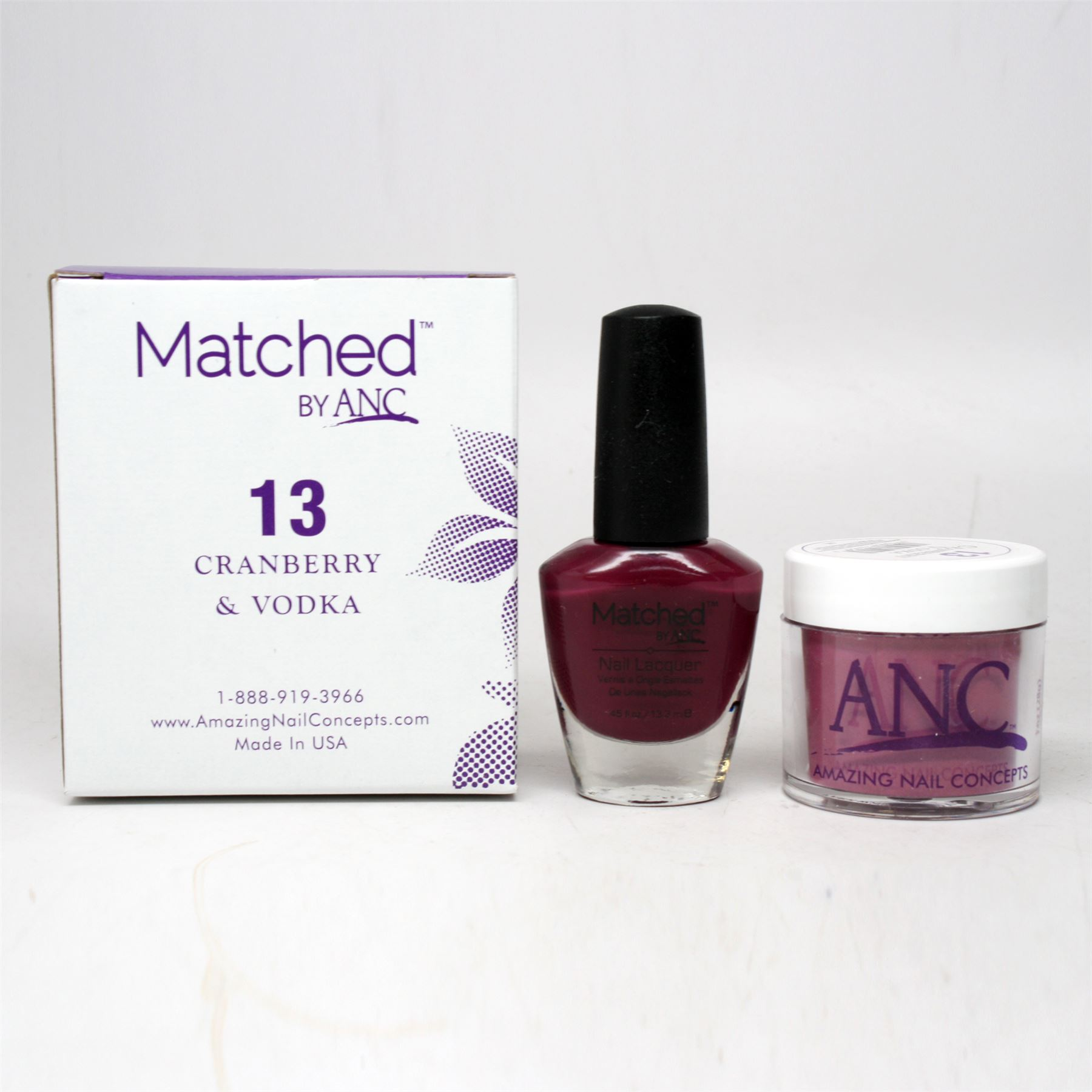 ANC Amazing Nail Concepts Matched Kit # 13 Cranberry