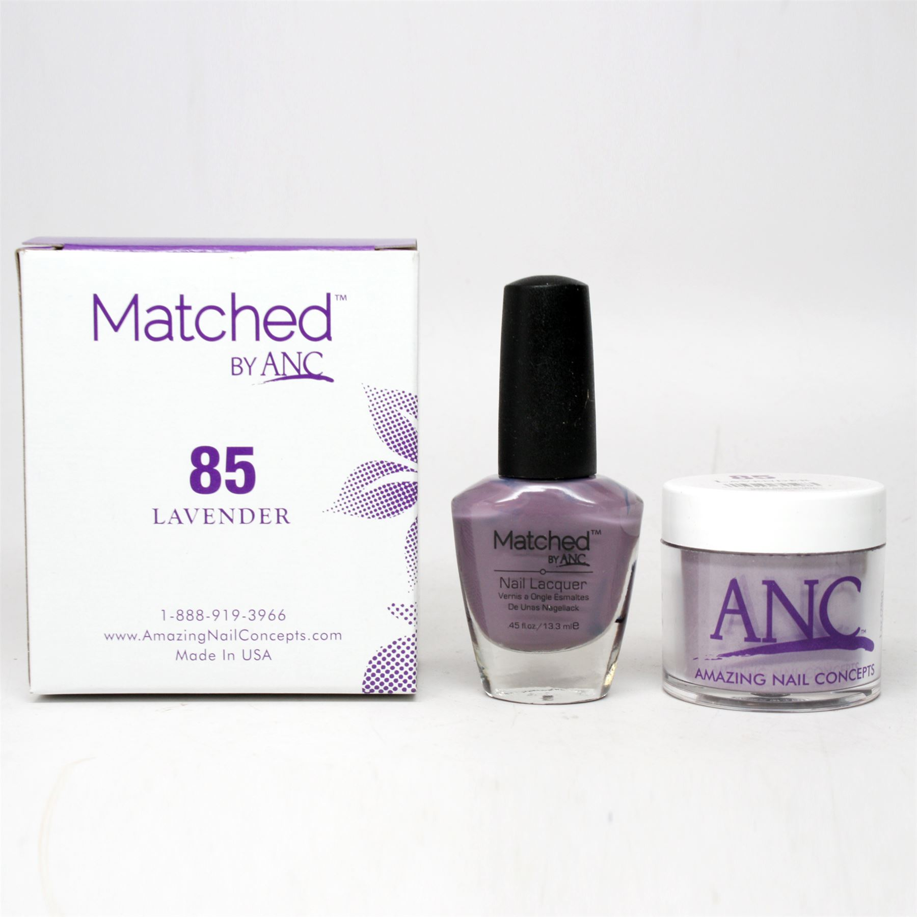 ANC Amazing Nail Concepts Matched Kit # 85 Lavender