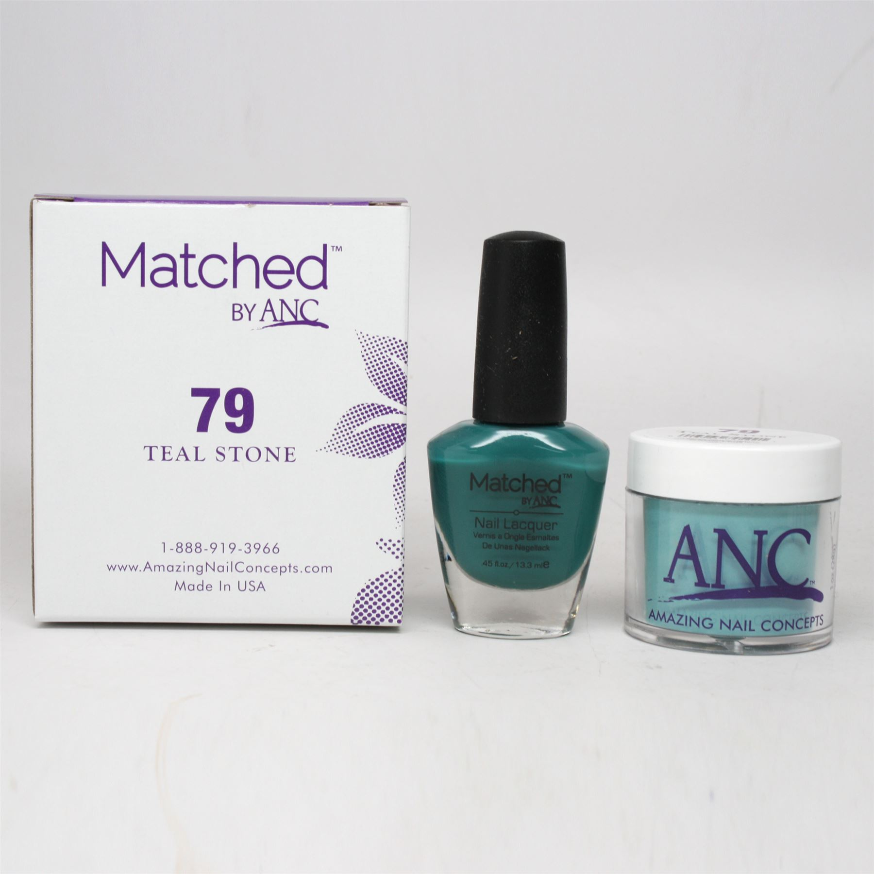 ANC Amazing Nail Concepts Matched Kit # 79 Teal Stone