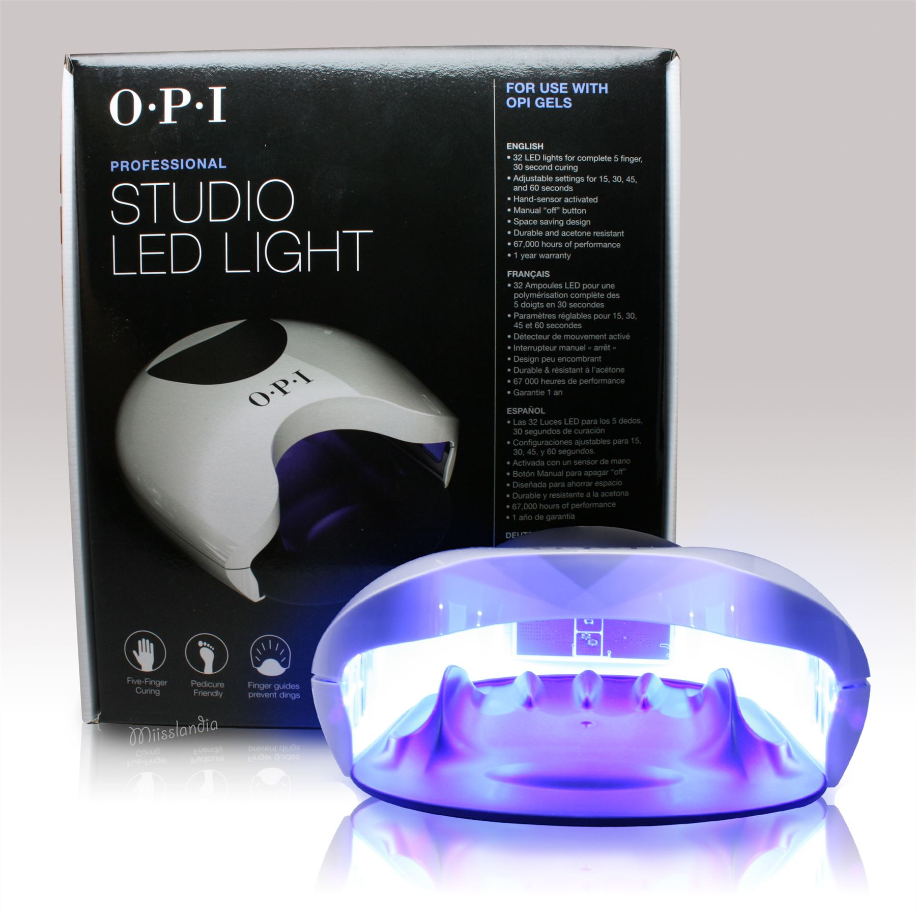 OPI Professional Studio LED Light GL900 Gel Lamp Dryer 15