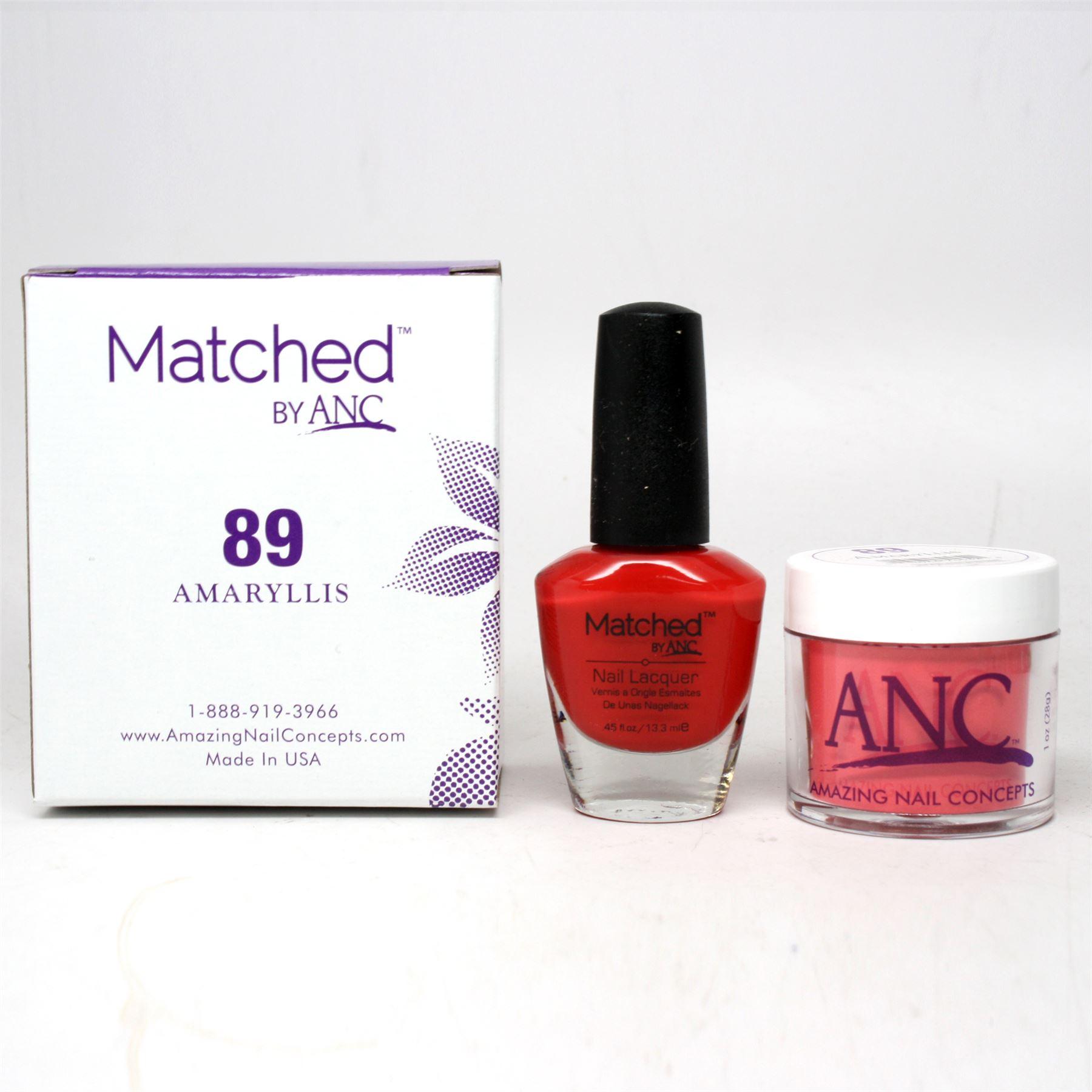 ANC Amazing Nail Concepts Matched Kit # 89 Amaryllis