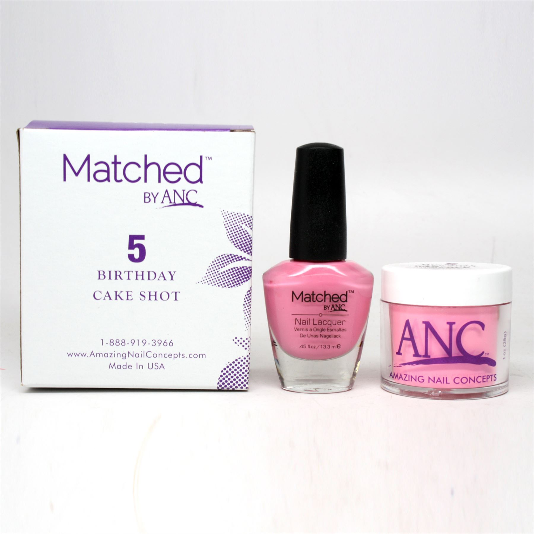 ANC Amazing Nail Concepts Matched Kit # 5 Birthday Cake