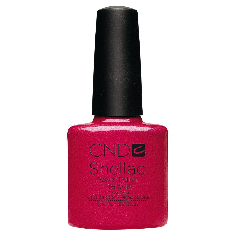 Creative nail design ebay : Creative nail design shellac uv color coat hot chilis oz