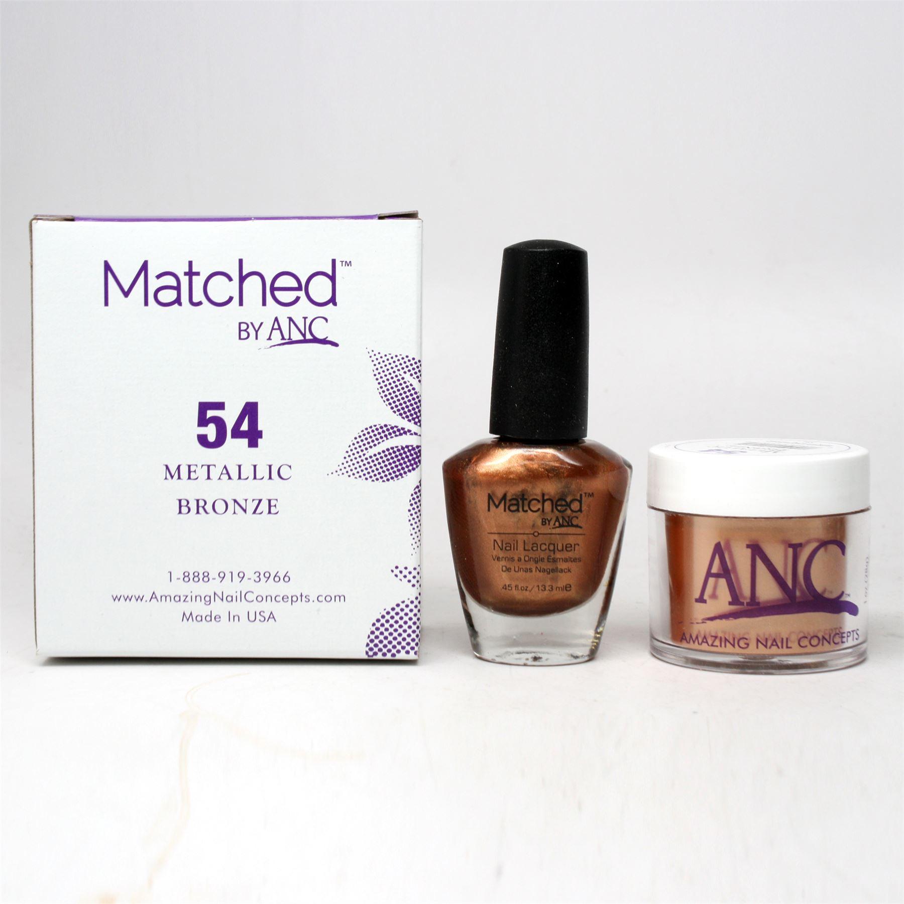 ANC Amazing Nail Concepts Matched Kit # 54 Metallic Bronze